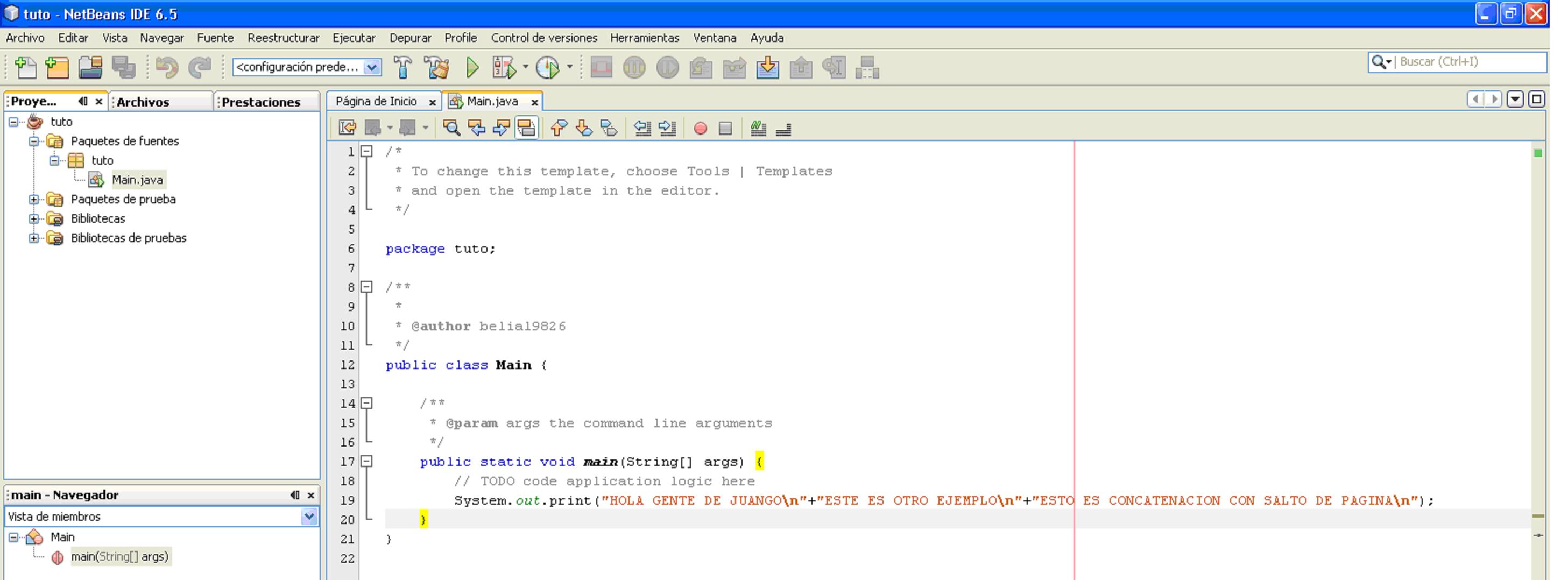 Mostrar Lineas De Texto Java 3