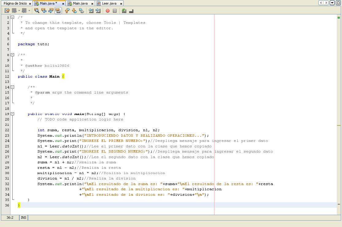 Ingresando Datos Y Realizando Operaciones Basicas [Java] 2