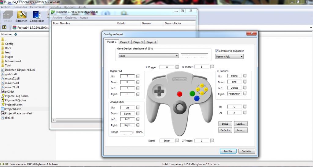 Emulador Project Nintendo 64