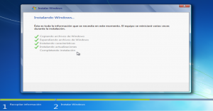 Instalando windows...