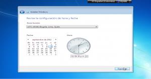 Selección franja horaria