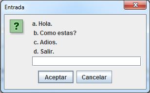 Crear un Menú con Cuadros de Dialogo (Java) 1
