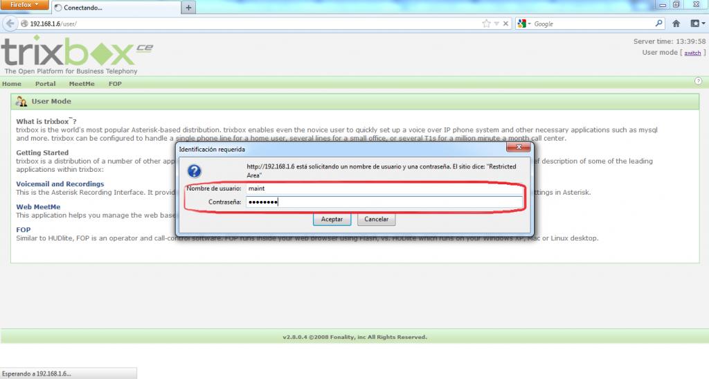 Configurar Protocolo SIP en Trixbox 1