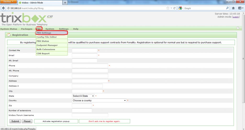 Configurar Protocolo SIP en Trixbox 4