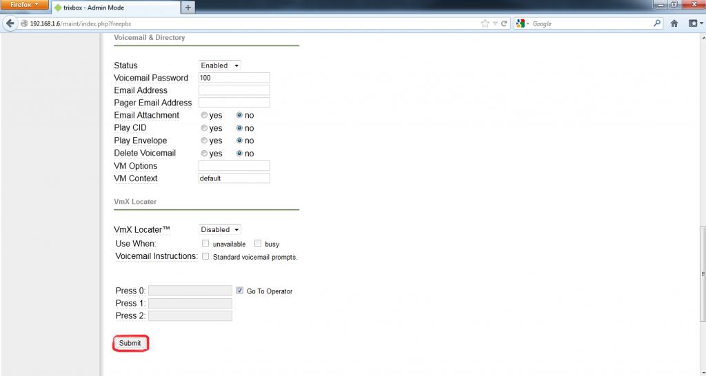 Configurar Protocolo SIP en Trixbox 9