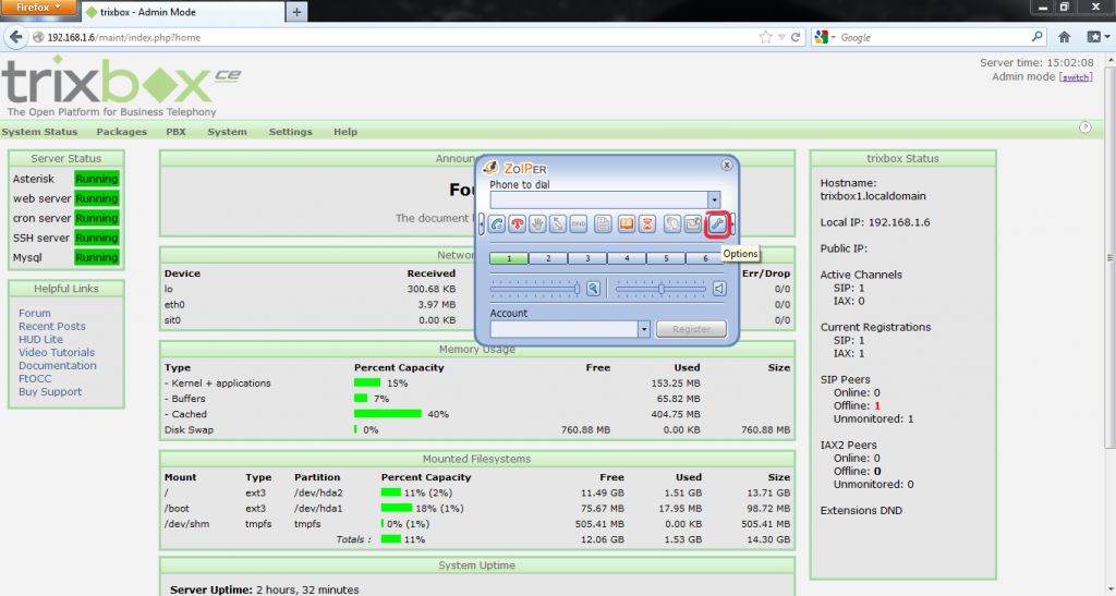 Configurar Protocolo SIP en Trixbox 13