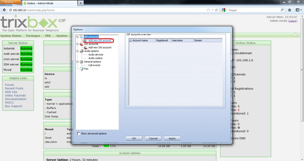 Configurar Protocolo SIP en Trixbox 14