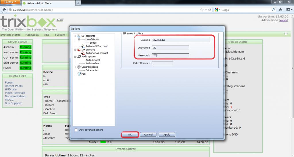 Configurar Protocolo SIP en Trixbox 16