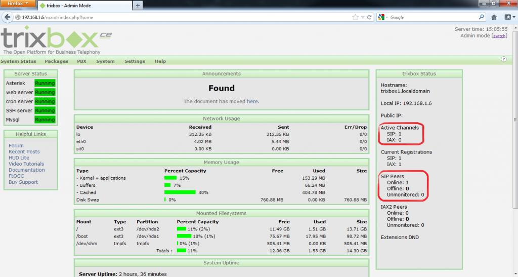 Configurar Protocolo SIP en Trixbox 17
