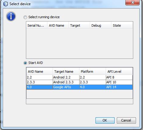Emulador android en netbeans