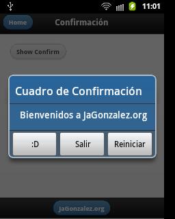 Confirmación en Android