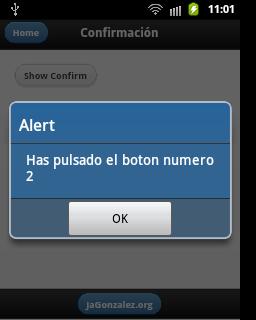 Indice botón Confirmación