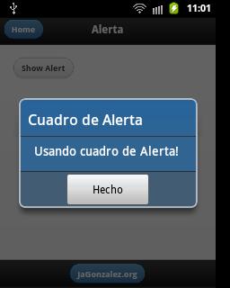 Cuadro de alerta en Android