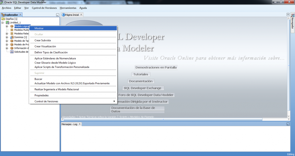SQL developer data modeler
