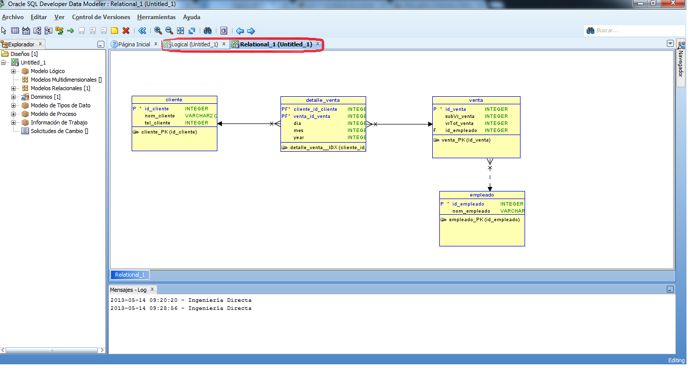 how to create an er diagram from oracle sql developer