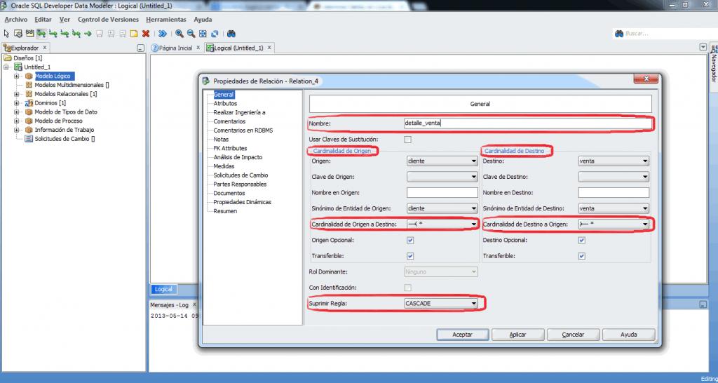 Relacion M:N developer data modeler