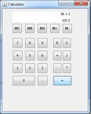 calculadora con interfaz