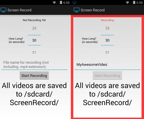 screen record android para kitkat