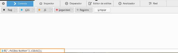 consola web javascript en firefox