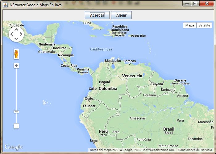 Acercar y alejar mapa en google maps