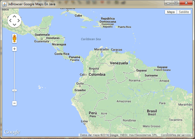 google maps en java html