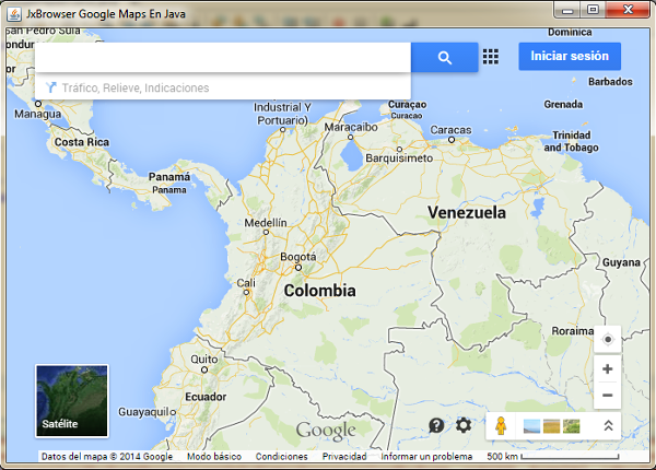 google maps en java swing