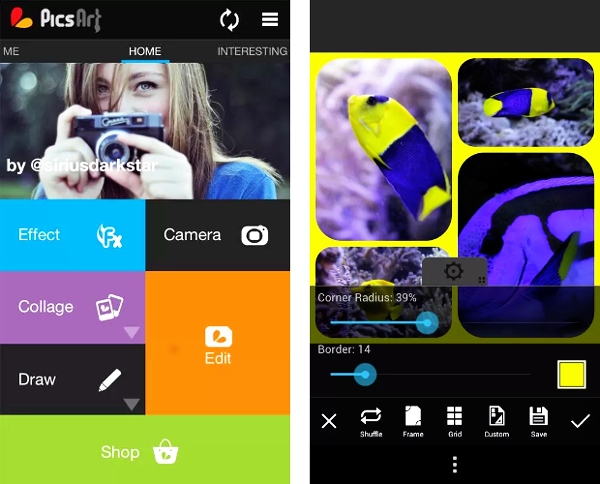 picsart editor de imagen para android
