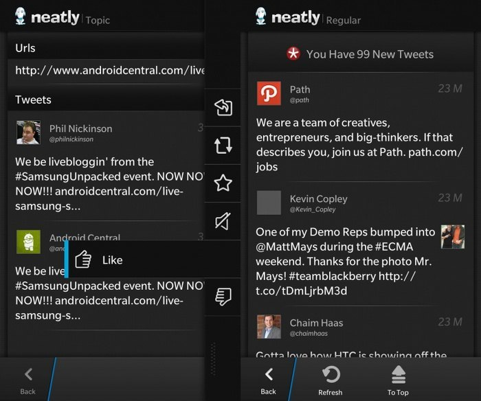 neatly para blackberry