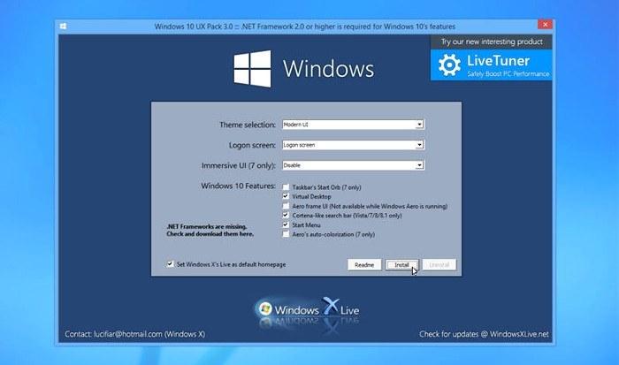 cambiar apariencia de windows 10