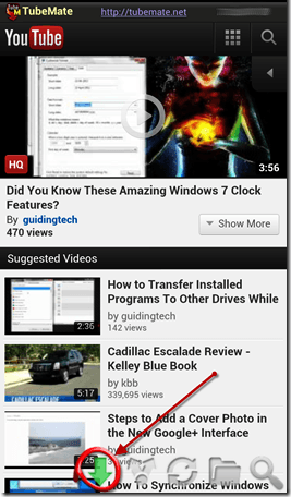 descargar videos de youtube en Android