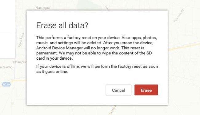 borrar datos desde adm android