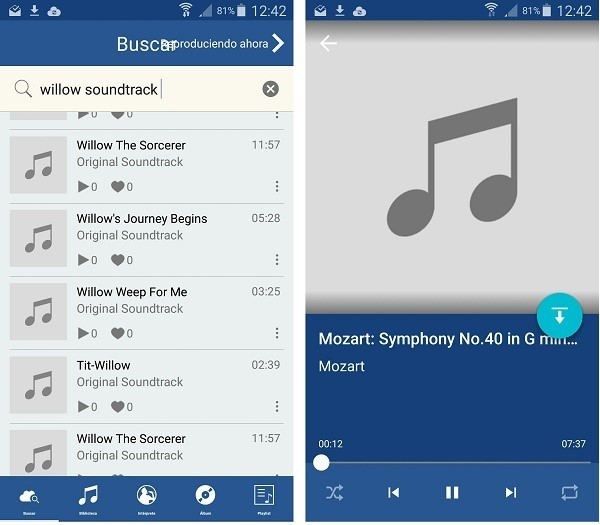 descargar musica en android