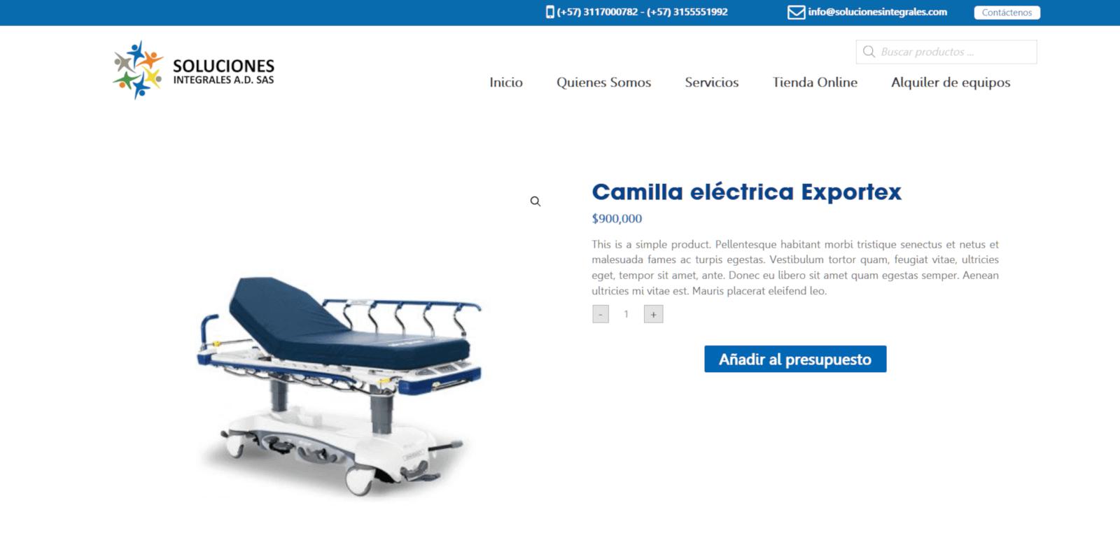DETALLE PRODUCTO SOLUCIONES INTEGRALES JAGONZALEZ COLOMBIA PAGINA WEB