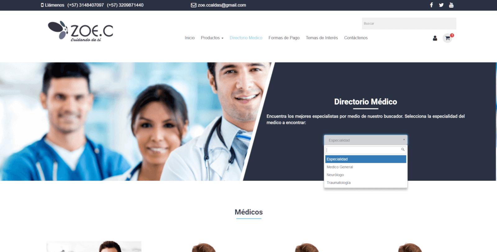 DIRECTORIO DE MEDICOS ZOECANNABIS