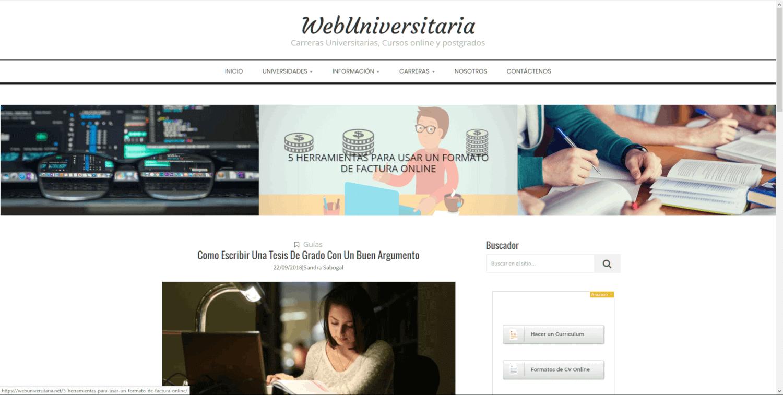 Home WebUniversitaria JAGONZALEZ WEB