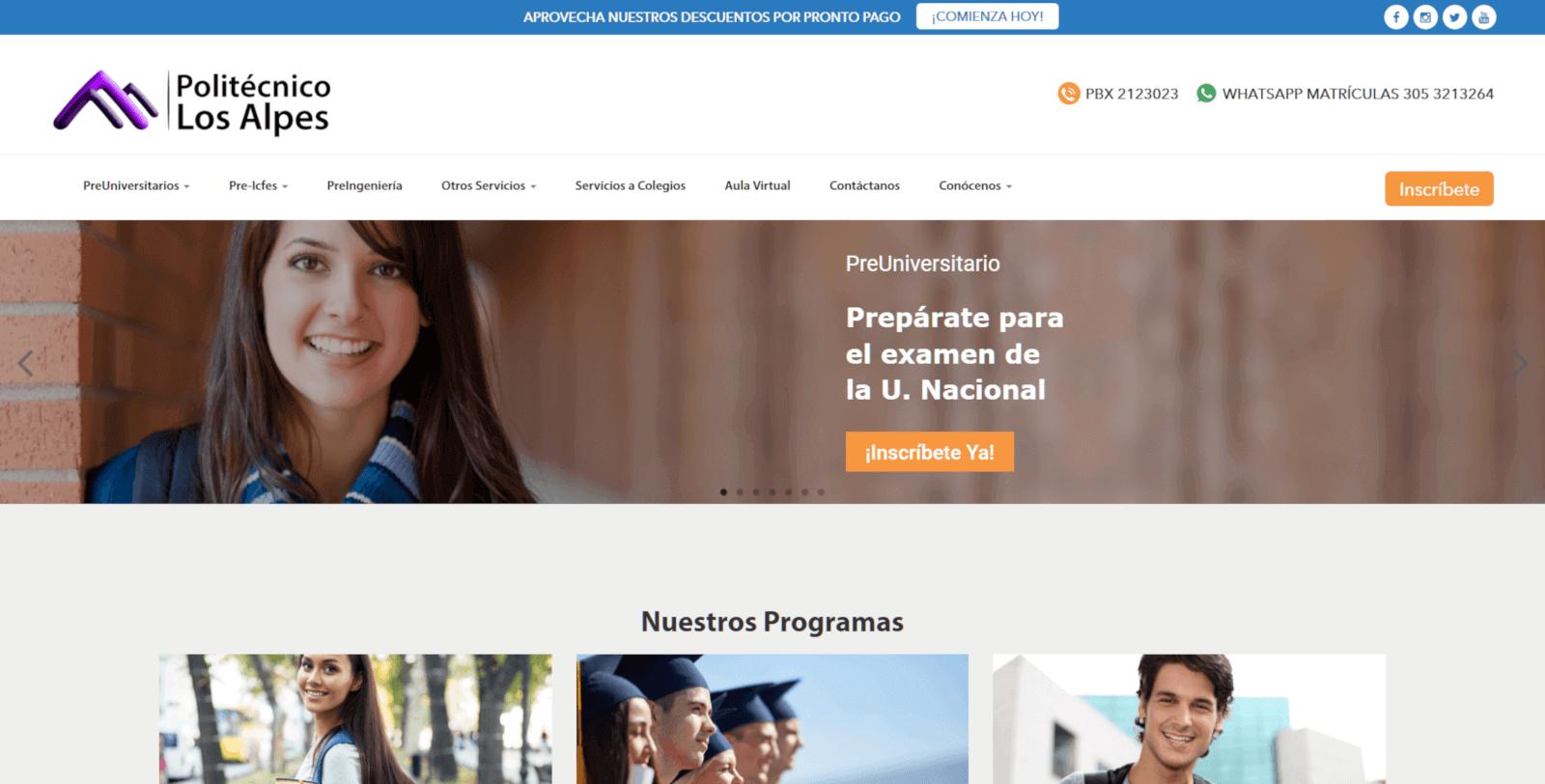 POLITECNICO LOS ALPES BOGOTA DISENO WEB