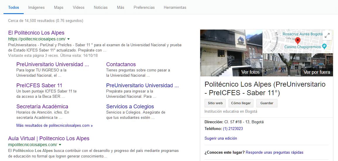 REDIRECCION POLITECNICO LOS ALPES