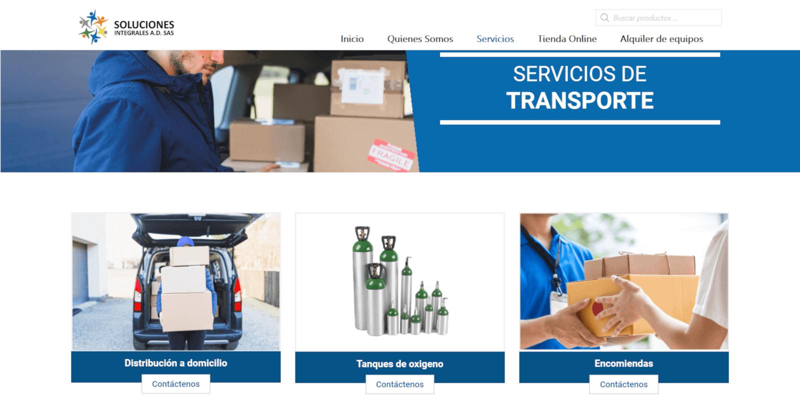 SERVICIOS SOLUCIONES INTEGRALES COLOMBIA CREAR PAGINA WEB JAGONZALEZ