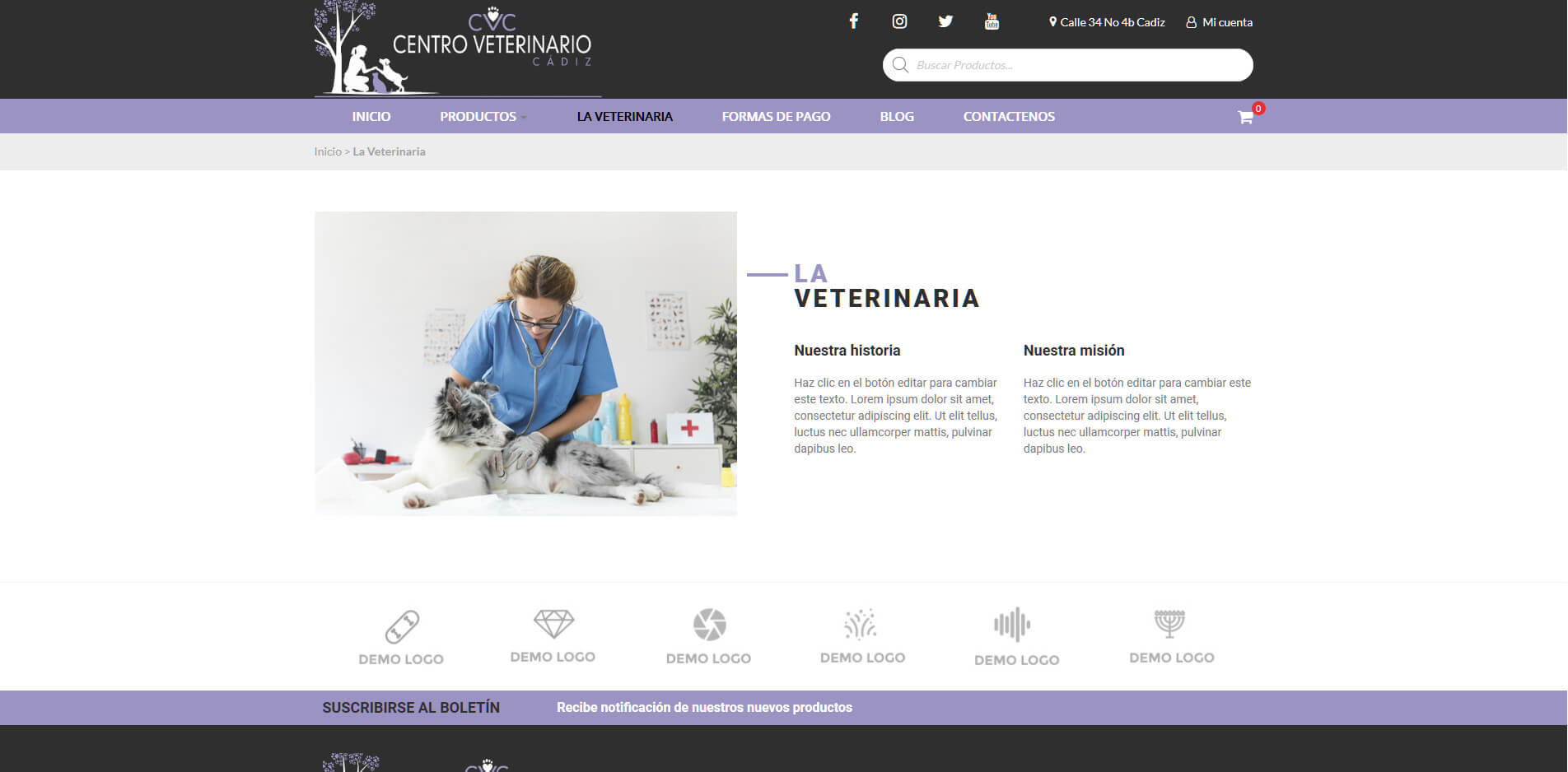 VETERINARIA CADIZ CONOCENOS
