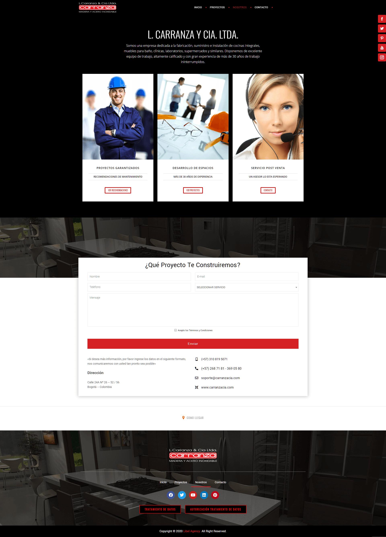 CARRANZA CIA SITIO DESARROLLO WEB